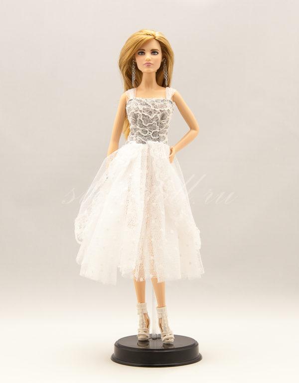 нарядное платье для барби