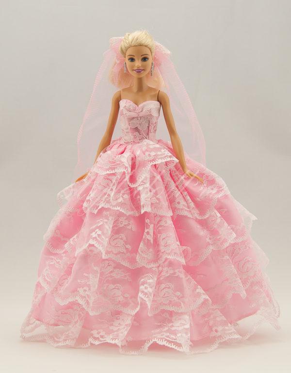 розовое платье для Барби