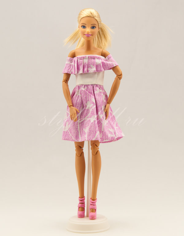простое платье для Барби