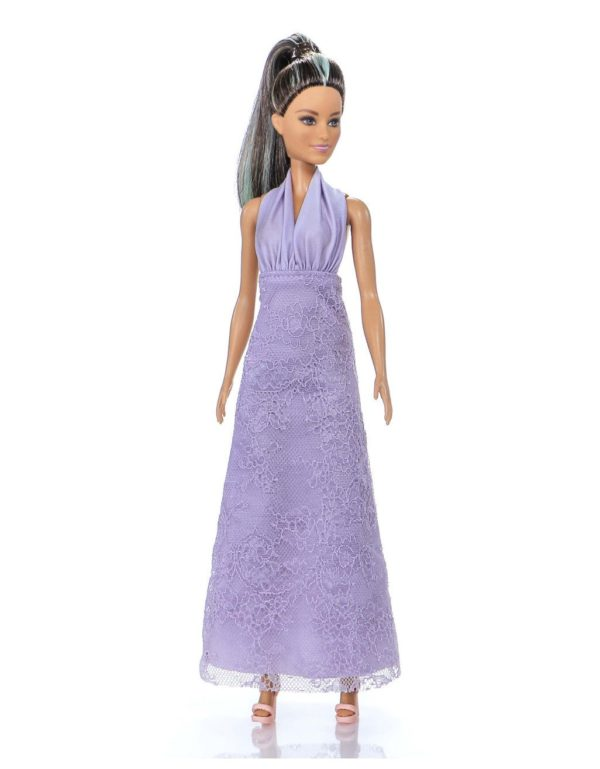 длинное платье для куклы