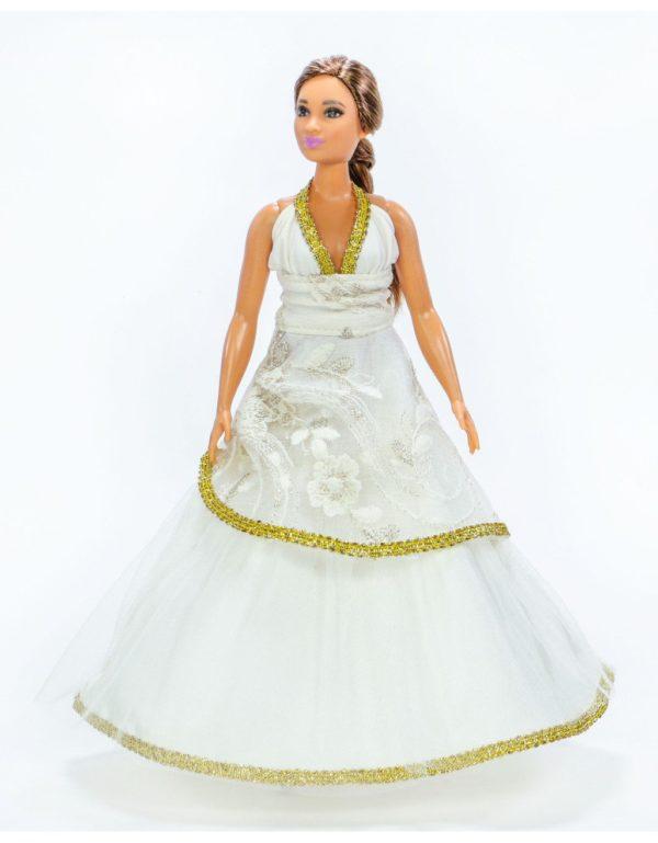 Красивое платье для Барби-пышки