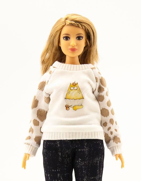 свитер для барби-пышки