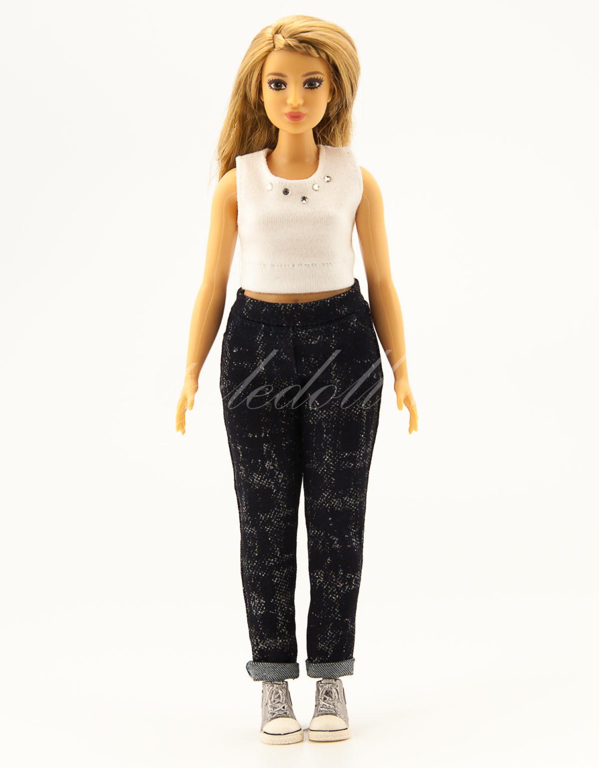 джинсы для Барби-пышка