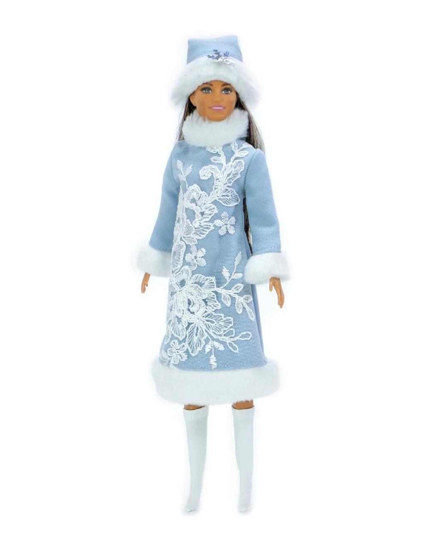 костюм снегурочки для куклы