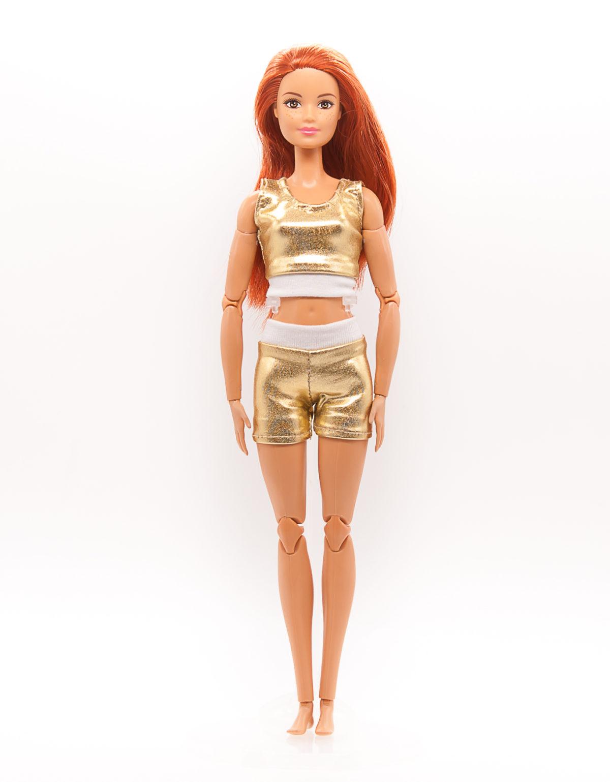 топик и шорты для куклы