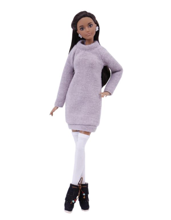 платье-туника для куклы