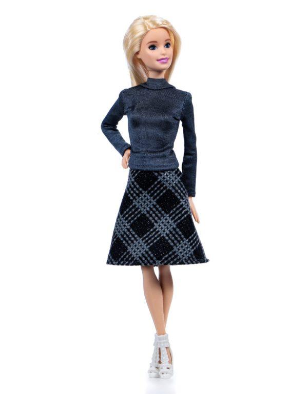 водолазка и юбка для куклы